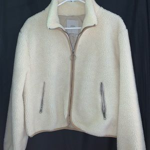 Urban Outfitters sherpa/teddy zip up jacket
